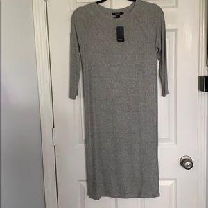 NWT! Gray thin knit midi dress! 😊